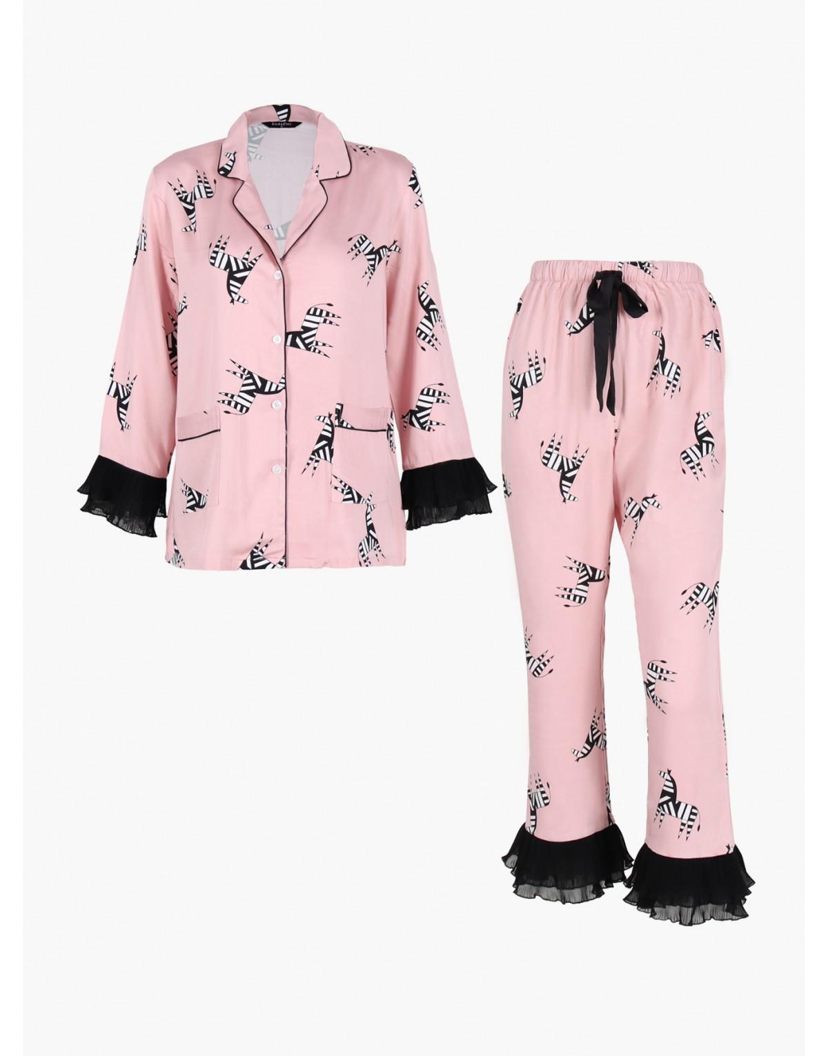 "Женская пижама INDEFINI ""Fancy zebra"""