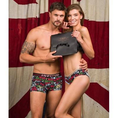🤩Family look 🤩  Новая коллекция трусиков, для него и для неё 👫 ⠀ Станет отличным подарком ☝️ ⠀ Яркие принты, удобные модели и необычный дизайн 💔 ⠀ Порадуйте друг друга😉 Мужские трусы: 419₽ Женские трусики: 279₽ ⠀ 🏷️Материал: 95% хлопок , 5% эластан ⠀ ______ ⠀ 🛍 Магазин: 📍ТЦ
